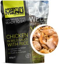 jídlo Adventure Menu - kuřecí na divoko s rýží, 400 g, 100% maso, samoohřev