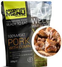 jídlo Adventure Menu - vepřové na kmínu, 200 g, 100% maso, samoohřev