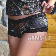 kalhotky Wilderness - Mossy Black Lace Boy Short  (602221), vel. XL