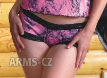 kalhotky Wilderness - NN Pink Lace Boy Short (602239)