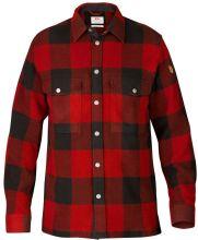 košile FJÄLLRÄVEN -  Canada Shirt M (90631), teplá, silná, barva 320 - Red, vel. S-XXXL