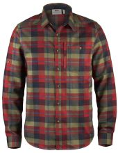 flanelová košile FJÄLLRÄVEN - Fjällglim Shirt (81380), trekingová, barva 325 - Deep Red