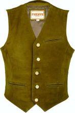 kožená vesta FUENTE - světle hnědá Camel (13177BUcl)