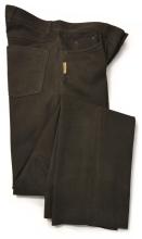 kožené kalhoty FUENTE - tmavě hnědé (501BUBR)