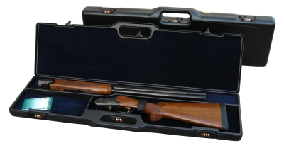 kufr Negrini- 1618, na rozloženou brokovou zbraň