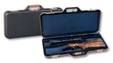 kufr Negrini - Mod.5-67LX, Blaser, na rozloženou zbraň, modrý plast, červený samet, 3 zámky