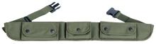 lovecký pás kulobrokový DASTA - 306-4, 3 kapsový, textilní
