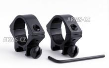 montáž REX - (204) hliníková bez podhledu (30mm) 2dílná, Weaver lišta