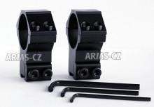 montáž REX - (308) hliníková bez podhledu (30mm) 2dílná, 11-12mm rybina, vysoká, zesílená