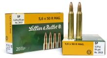 náboj SB 5,6x50 R Magnum 2913 SP 3,24g