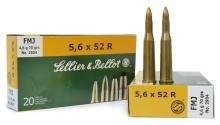 náboj SB 5,6x52 R 2904 FMJ 4,6g