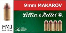 náboj SB 9mm Makarov FMJ 6,1g Boxer
