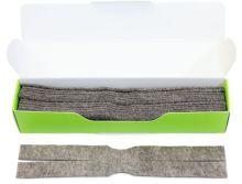náhradní vytěráky pro čístící sady JAKELE - Field Kit * Cleaning Patches * 12 kusů, hnědé, cal. 9,3mm