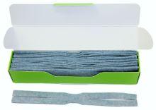 náhradní vytěráky pro čístící sady JAKELE - Field Kit * Cleaning Patches * 12 kusů, modré, cal. 7mm