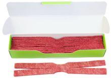 náhradní vytěráky pro čístící sady JAKELE - Field Kit * Cleaning Patches * 12 kusů, červené, cal. 8mm - .338