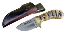 lovecký nůž SAUER Jagdmesser Muflon - lovecký nůž, kožené pouzdro (10280)