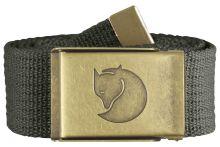 opasek FJÄLLRÄVEN - Canvas Brass Belt 4 cm (77297), barva 032 - Mountain Grey