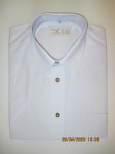 pánská košile Luko (024163) - společenská bílá s krátkým rukávem