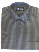 pánská košile Luko (054229) - kostkovaně zelená s krátkým rukávem