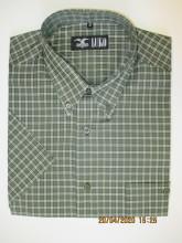 pánská košile Luko (074128) - kostkovaně zelená s krátkým rukávem