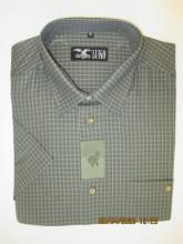 pánská košile Luko (104116) - kostkovaný vzor s krátkým rukávem