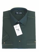 pánská košile Luko (104119) - tmavě zelená s krátkým rukávem