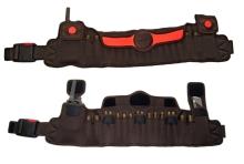 pás NIGGELOH - na 12 kulových, 4 brokové náboje a příslušenství, hnědý s oranžovou (1311 00010)