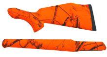 pažba pro SAUER 202 Soft Touch - plastová s reflexním povrchem (oranžová), pažba + předpažbí