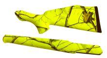 pažba pro SAUER 202 Soft Touch - plastová s reflexním povrchem (žlutá), pažba + předpažbí