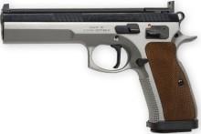 pistole samonabíjecí CZ 75 TS (Tactical Sports), r.9mm LUGER - kombinovaný stříbrný lak