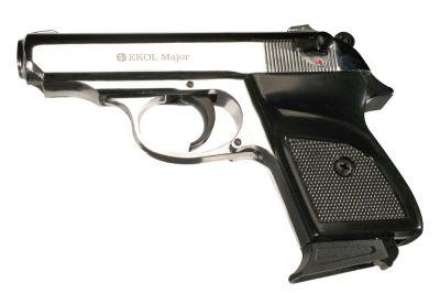 plynová pistole EKOL Major M88 ráže 9P.A. - barva Shiny chrome (lesklý chrom)