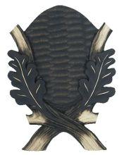 štítek/ podložka PR 01 - srnčí na seříznutou lebku, rozměr 16x22 cm