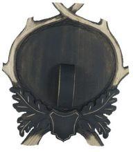 štítek/ podložka PR 12 - divočák deska na zbraně velká, rozměr 25x28 cm