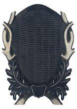 štítek/ podložka PR 23 - jelení pod celou lebku, provedení 4-listé, rozměr 39x54 cm