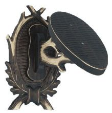 štítek/ podložka PR 24 - mufloní, 3-dílný štítek se sešikmenou deskou pro uchycení trofeje, rozměr 21x31 cm