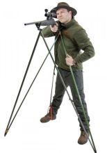 střelecká hůl JAKELE - Z4-MEDIUM, zelená, pro postavu 175 - 190 cm