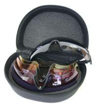 střelecké brýle EVO - Connect 4, 4 výměnná skla + pouzdro (šedá, žlutá, oranžová, fialová)