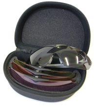 střelecké brýle EVO - Hawk RX, dioptrické s vyměnitelnými 4 skly na klip (šedá, oranžová,