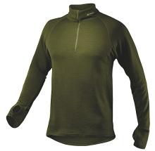 vlněný rolák Devold zelený s krátkým zipem