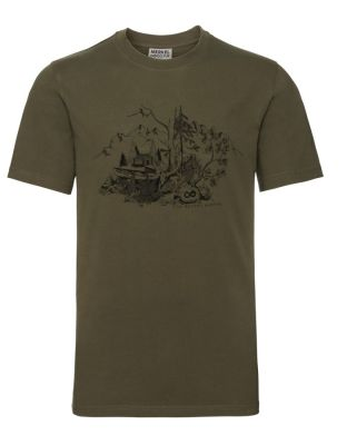 triko Merkel Cross Hunting T-Shirt grau