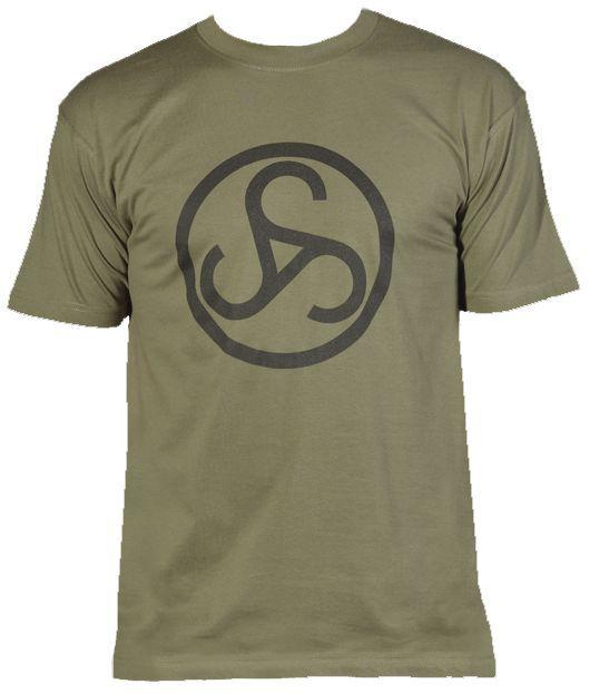 zelené triko Sauer - velké černé logo na prsou 2829cc41e4