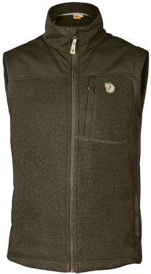 fleecová vesta Fjällräven - Buck Fleece Vest (81727), barva 633 - Dark Olive