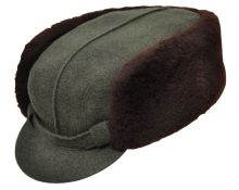 zimní čepice WERRA - (0808) Berta, loden-pravá kožešina, vel. 55-63